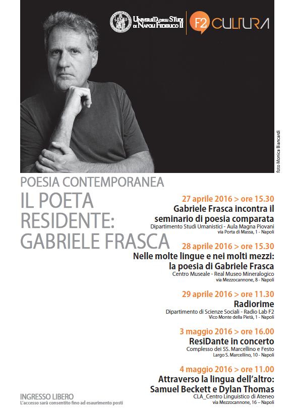 Ogni anno, per sei anni, l'Università degli Studi di Napoli Federico II invita un poeta a risiedere in città per tenervi una serie di incontri con gli studenti e i [...]